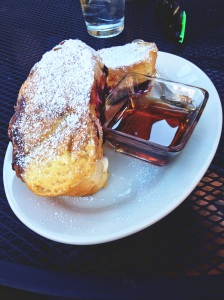 Honey goat cheese blubbery french toast