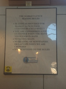 Market lunch rules