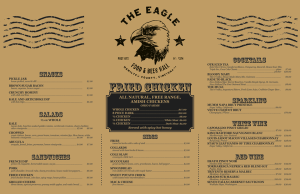The Eagle Menu