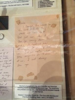 Central Perk, friends, Chandler's wedding vows