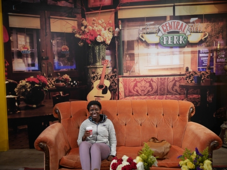 Central Perk, friends, orange couch