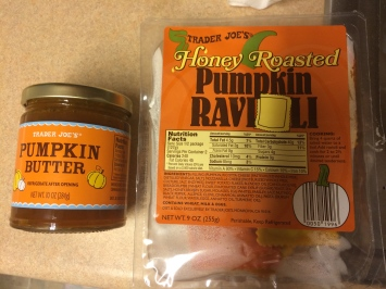 Trader joe's pumpkin butter and pumpkin ravioli