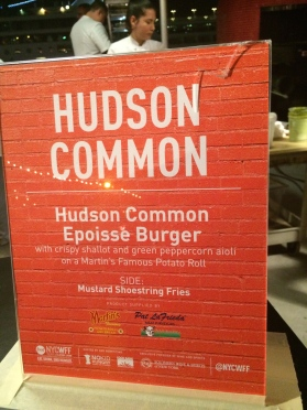 Hudson Common burger-NYCWFF