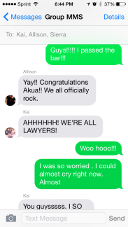 I passed the bar!