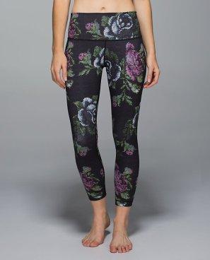 Lululemon rose print yoga pants