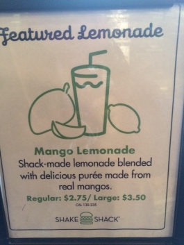 shake shack mango lemonade